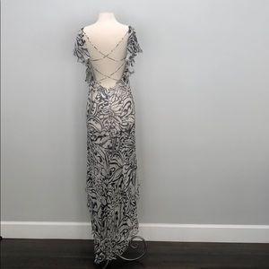 Valentino  long black and white dress